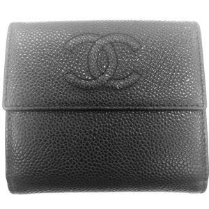 Chanel CC small caviar wallet